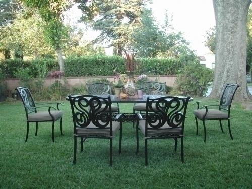 Outdoor Cast Aluminum Patio Furniture 7 Pc Dining Set G